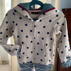 Catimini Paris Hooded Sweatshirt Cardigan Sz 4